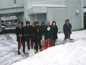 雪片付けメンバー